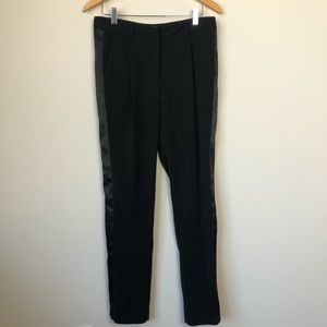 H&M Womens Black Tuxedo Stripe Pants Size 8